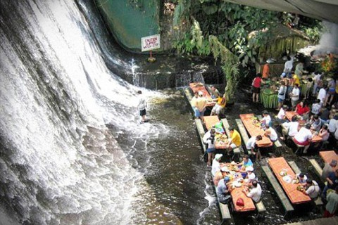 The Waterfalls Restaurant in the Philippines