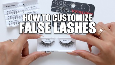 How To Customize False Lashes